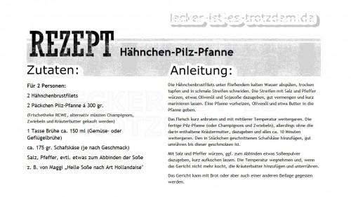 Rezept_Hähnchen_Pilz_Pfanne
